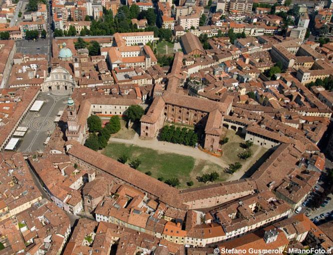 Veduta aerea Castello di Vigevano