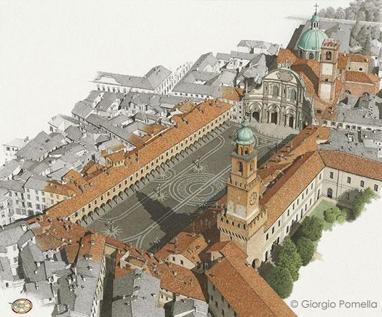 Vigevano Piazza Ducale: prospettiva