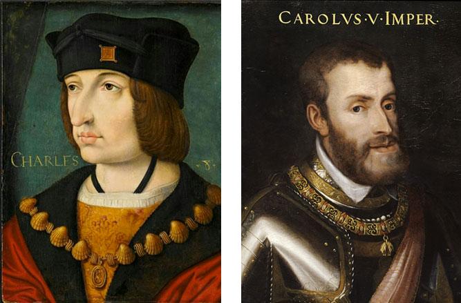 Carlo V di Spagna e Carlo VIII di Valois